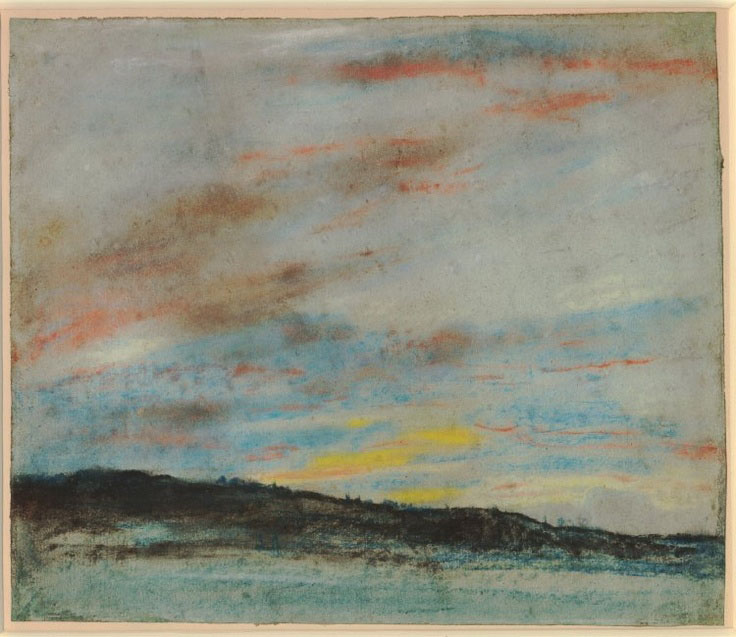 Делакруа Delacroix Sky at Sunset пастель пейзажи природы Альберт Сафиуллин
