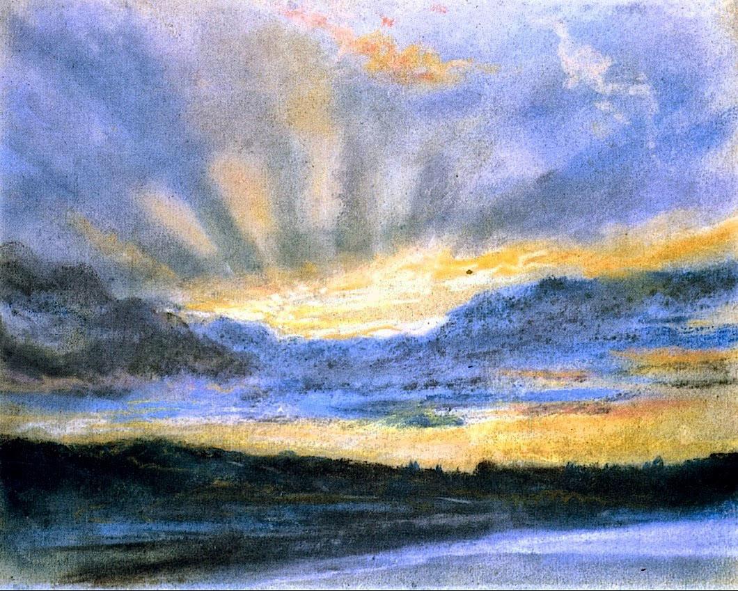 Делакруа Delacroix Sunset акварель пейзажи природы Альберт Сафиуллин