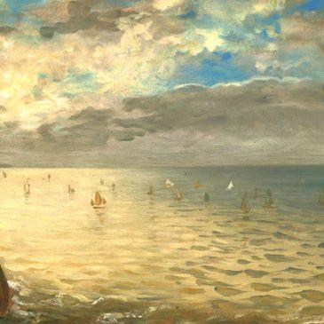 Делакруа Delacroix картина Море в Дьеппе морские пейзажи Альберт Сафиуллин