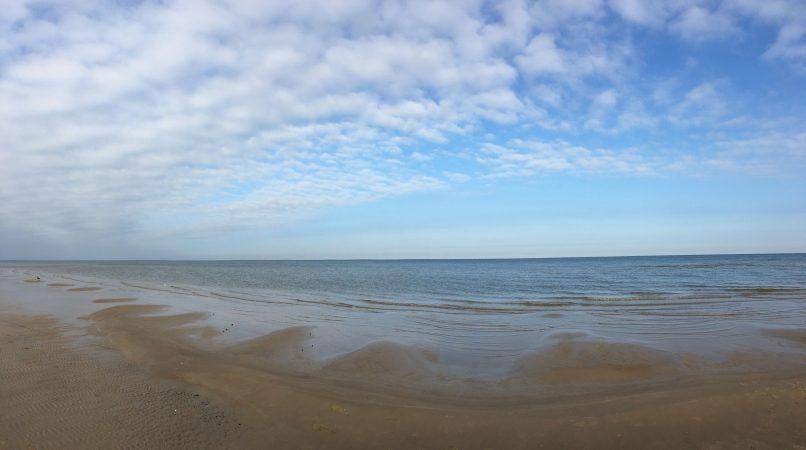 Морской пейзаж в марте. Юрмала.