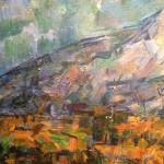 Поль Сезанн- Гора Св.Виктории. Вид со стороны Лов (пейзаж в Эксе)-1905 (ГМИИ им. Пушкина) Фрагмент 1