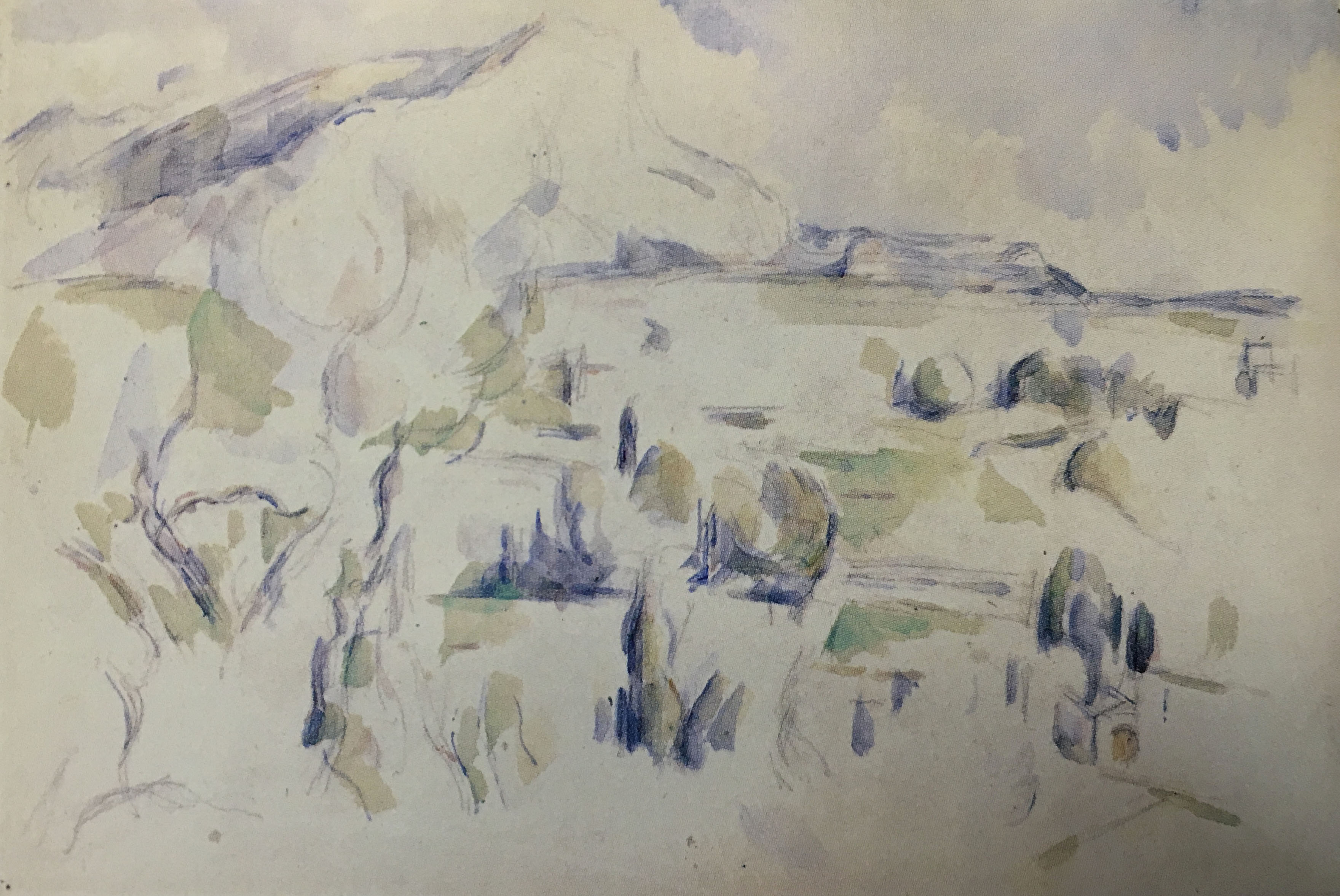 Сезанн Cezanne акварель Sainte Victoire пейзажи природы Альберт Сафиуллин