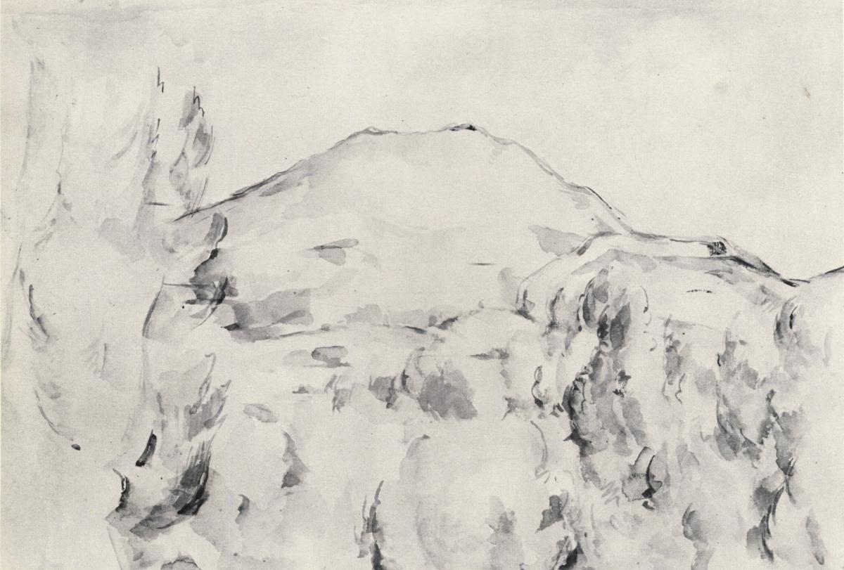 Художник Сезанн Cezanne картина гора Сент Виктуар пейзажи природы Альберт Сафиуллин