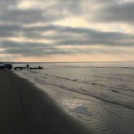 Один мартовский день на Рижском заливе — морские пейзажи