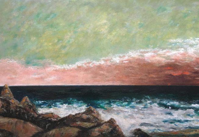 Альберт Сафиуллин - Средиземное море, масляная пастель, бумага  (2016)