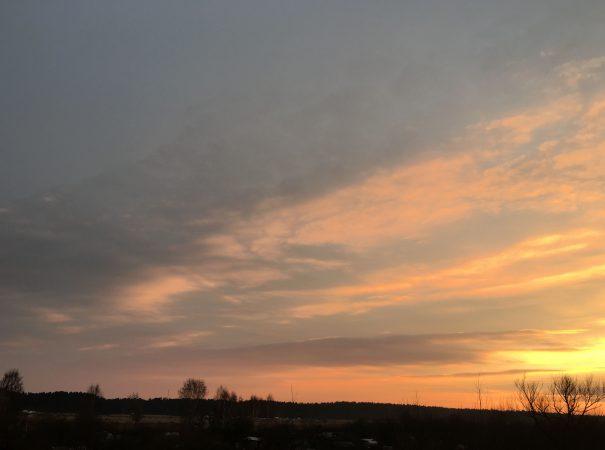 Латвия Юрмала Весна Март закат солнца в Юрмале пейзажи природы Альберт Сафиуллин