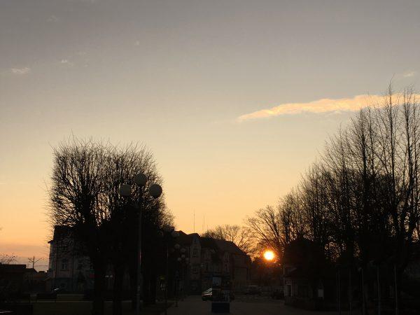 Латвия Юрмала Весна Март закат солнца пейзажи природы Альберт Сафиуллин