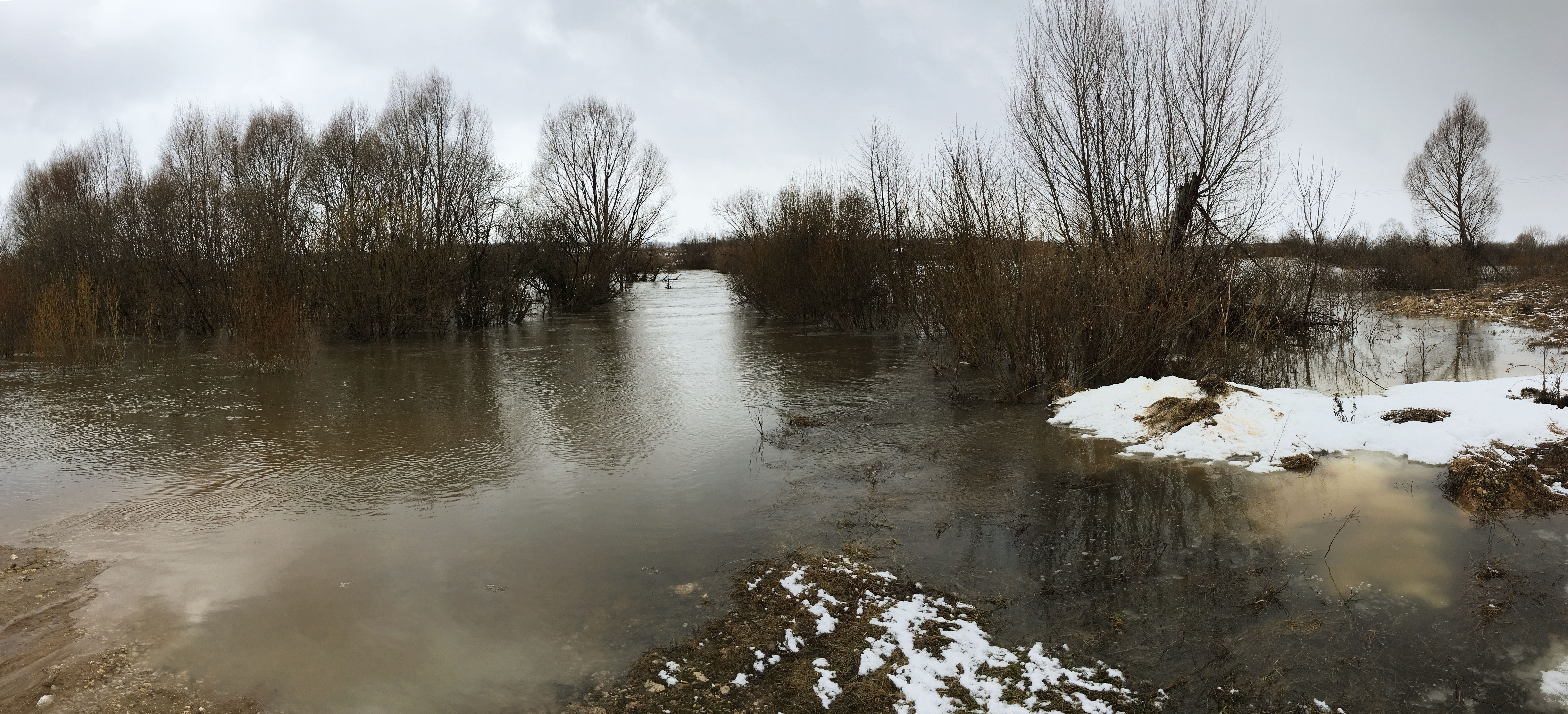 Река Пьяна весеннее половодье рыбалка пейзажи природы Альберт Сафиуллин