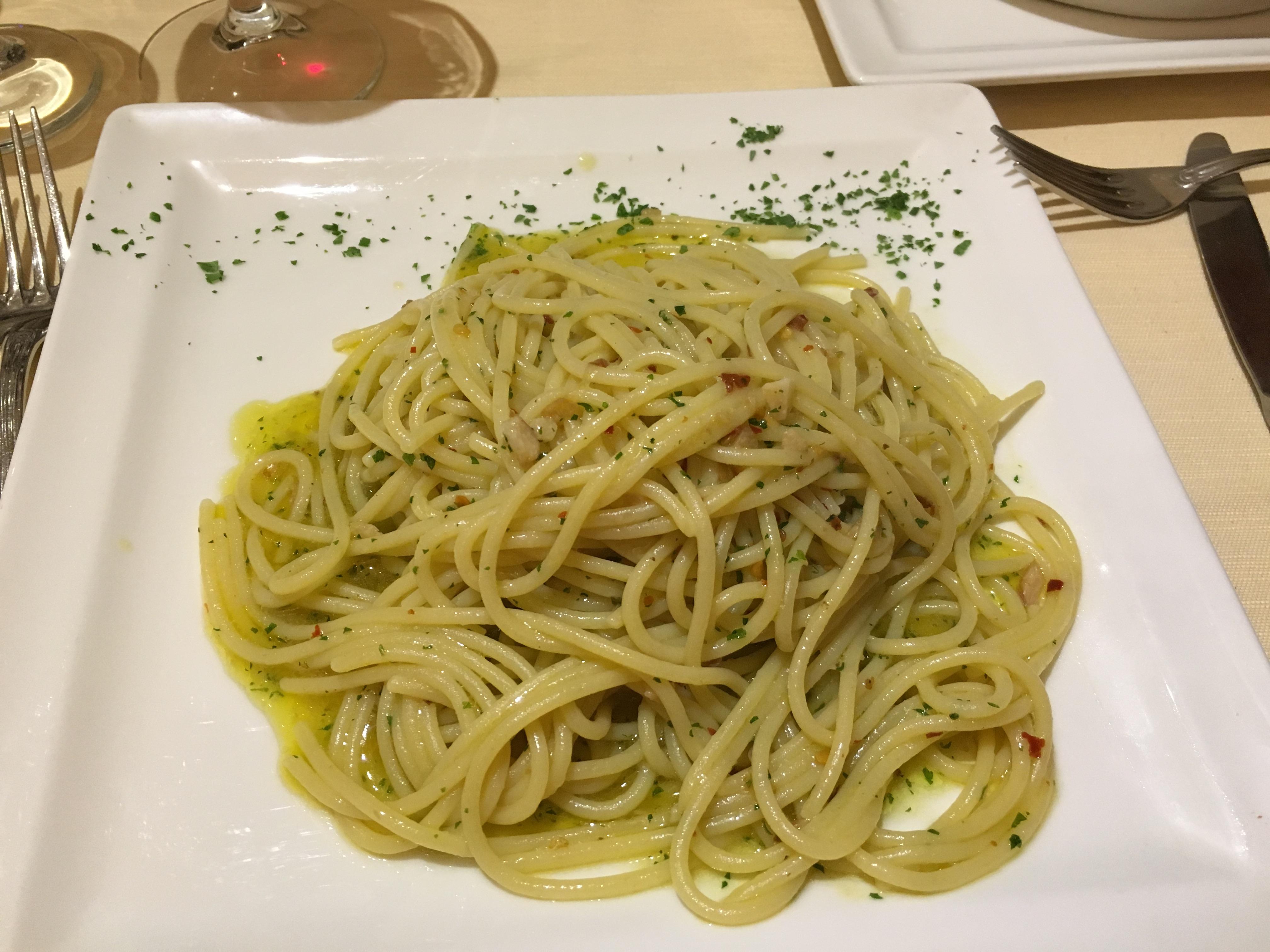 Паста Spagetti Aglio, Olio e Peperoncino Рим кулинария Альберт Сафиуллин