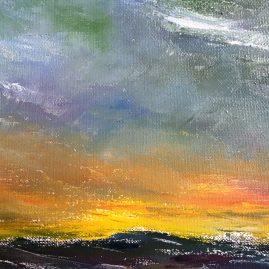 Картина Морской пейзаж шторм закат Альберт Сафиуллин