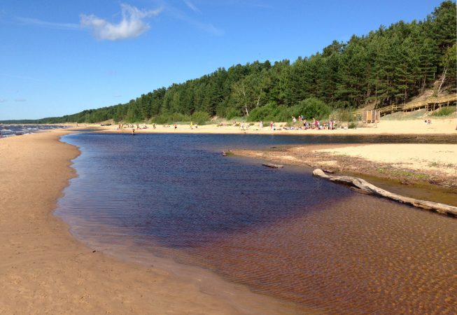 Латвия море большая дюна Саулкрасты пейзажи природы Альберт Сафиуллин