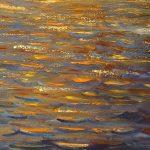 картина маслом морской пейзаж закат солнца черное море Альберт Сафиуллин