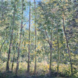 Весенний лес — картина маслом