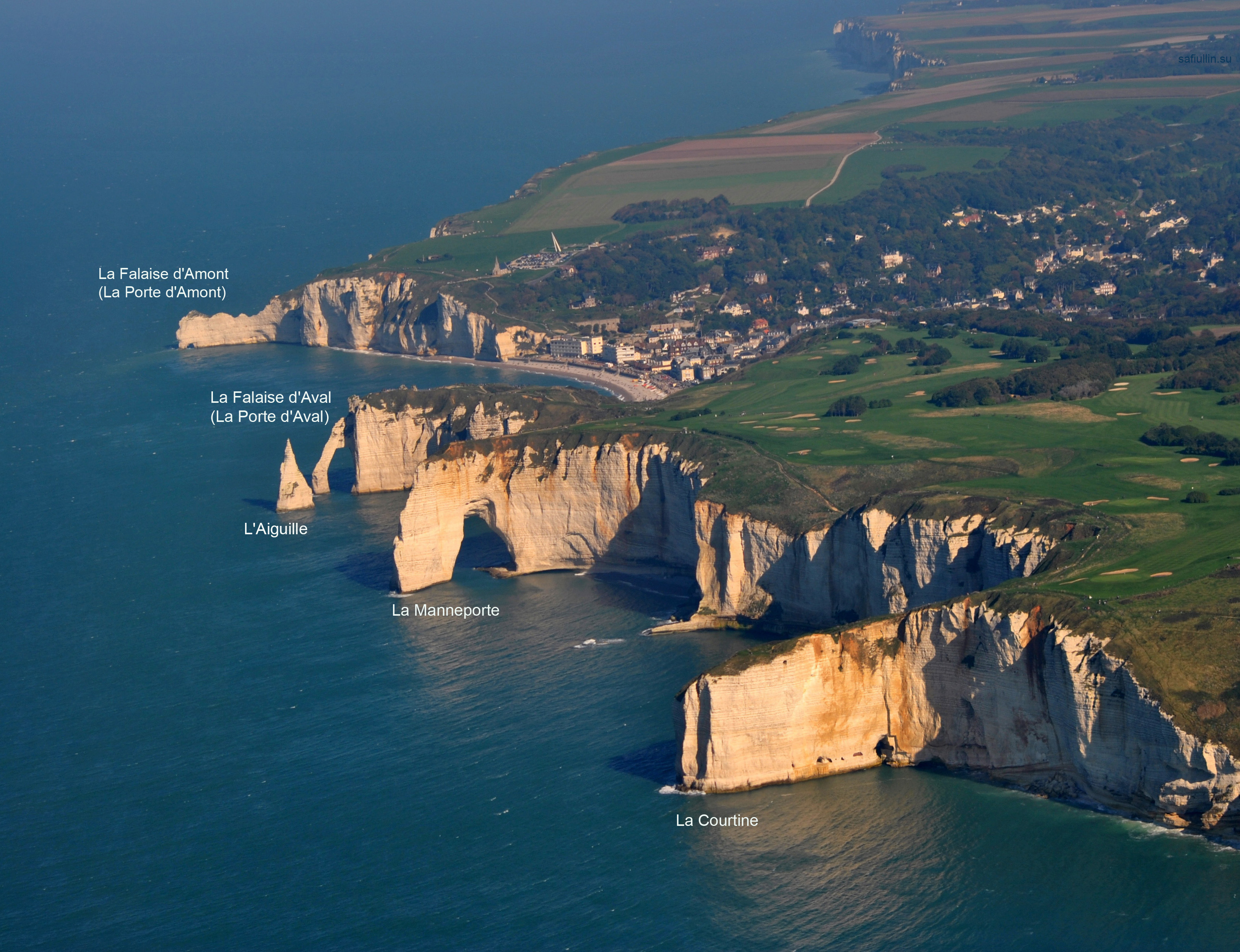Утесы Скалы Этрета falaise cliffs Etretat Нормандия пейзажи природы Альберт Сафиуллин