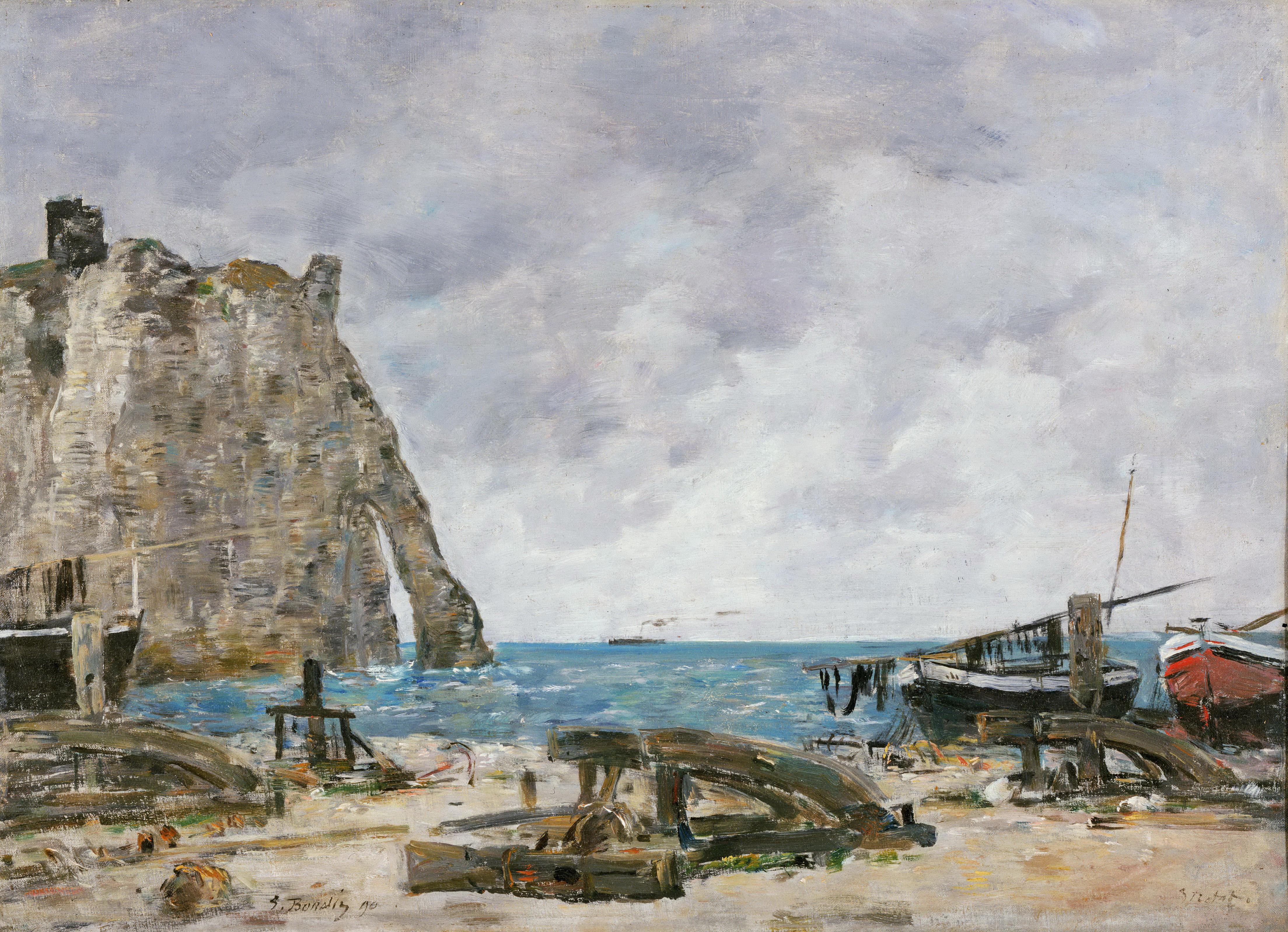 Художник Эжен Буден Boudin картина Этрета Etretat пейзажи природы Альберт Сафиуллин