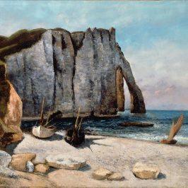 Морские пейзажи Гюстава Курбе — скалы Этрета
