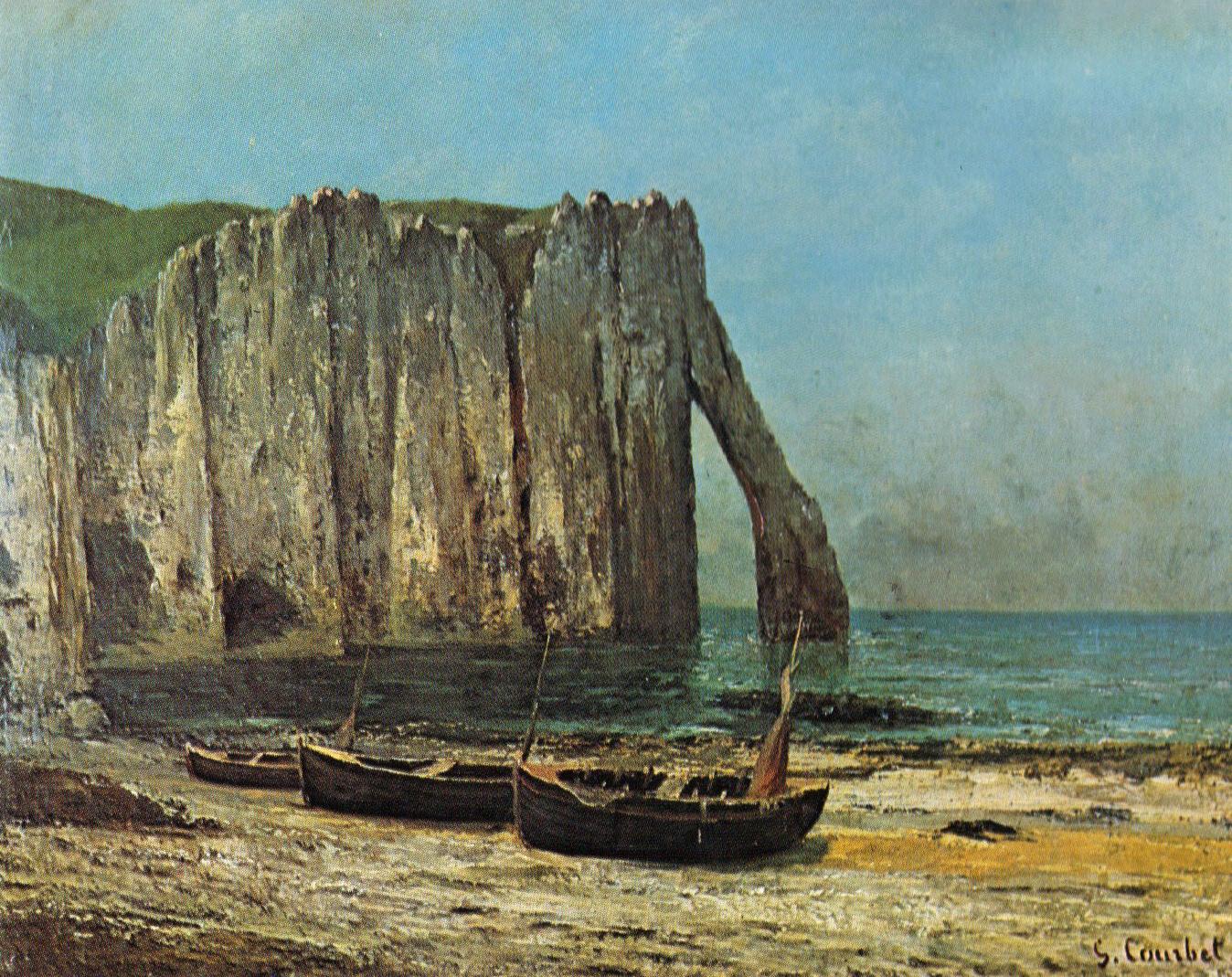 Художник Гюстав Курбе Gustave Courbet картина Скалы Этрета Etretat морские пейзажи природы Альберт Сафиуллин
