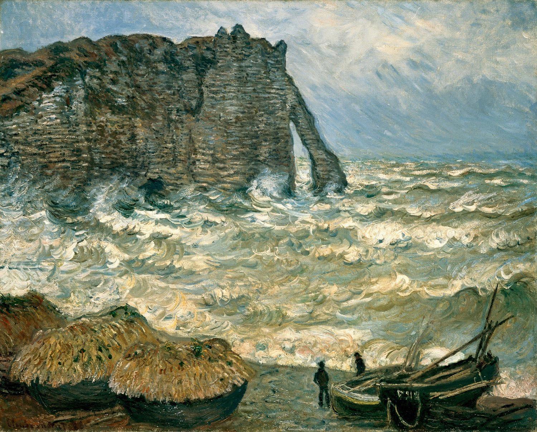 Художник Клод Моне Monet картина Этрета Etretat пейзажи природы Альберт Сафиуллин
