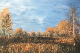 Осенний пейзаж. В долинных лугах Большой Реки.