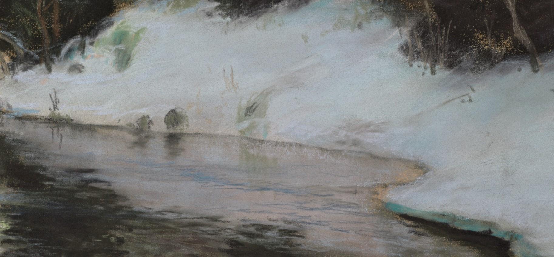 Таулов крупным планом details of Frits Thaulow Close-Up view пейзажи природы Альберт Сафиуллин
