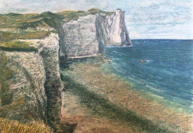 Скалы Этрета во время отлива (La Porte d'Aval)