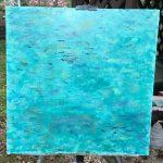 морской пейзаж картина маслом акула риф лагуна Мальдивы океан подводный мир художник Альберт Сафиуллин