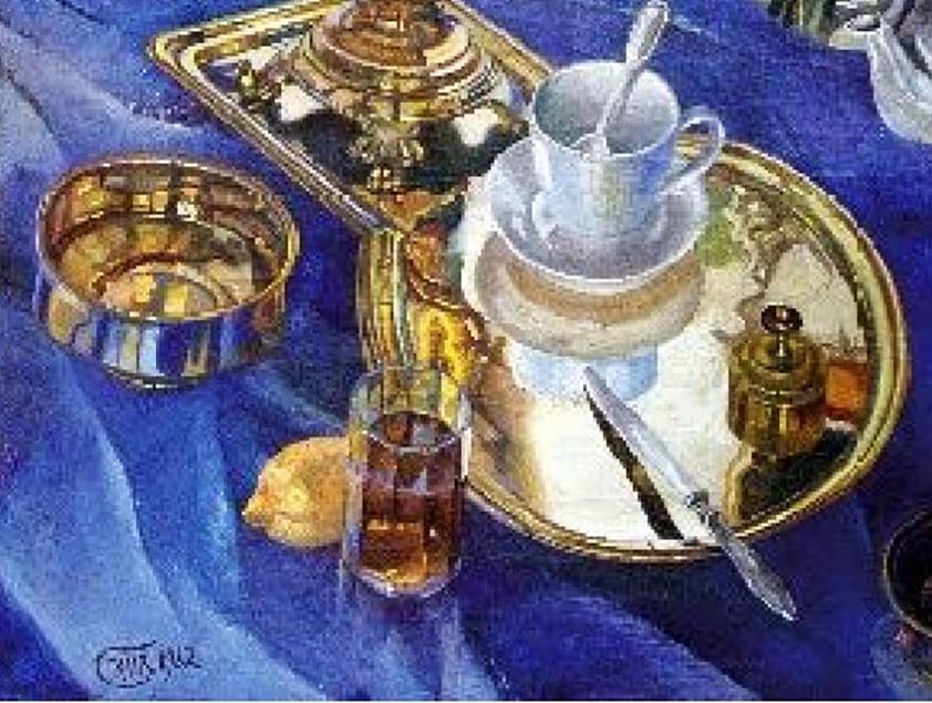 Художник Петров-Водкин Petrov-vodkin nature morte натюрморт paintings картина пейзажи природы Альберт Сафиуллин
