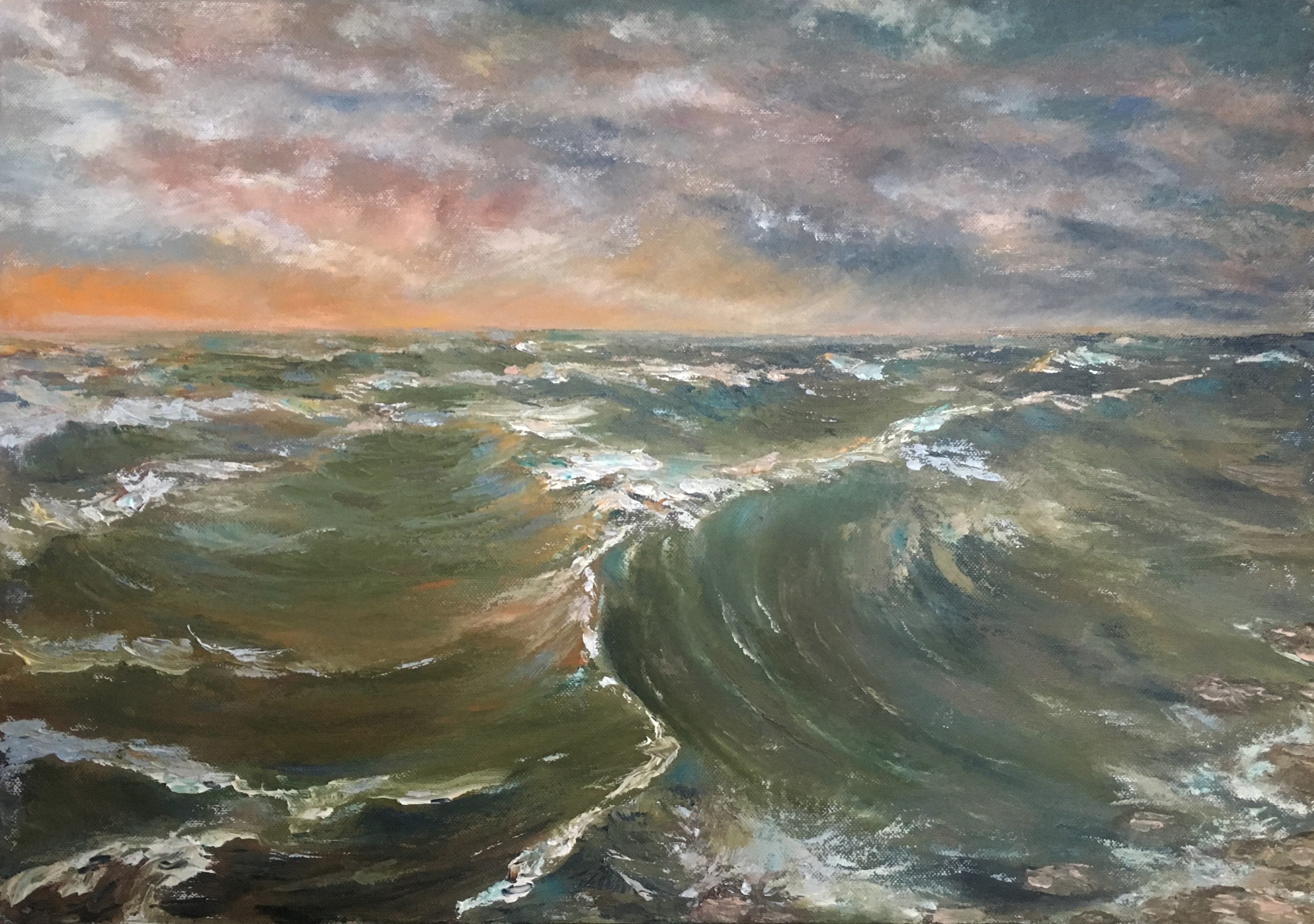 морской пейзаж картина волна Латвия Юрмала художник Альберт Сафиуллин