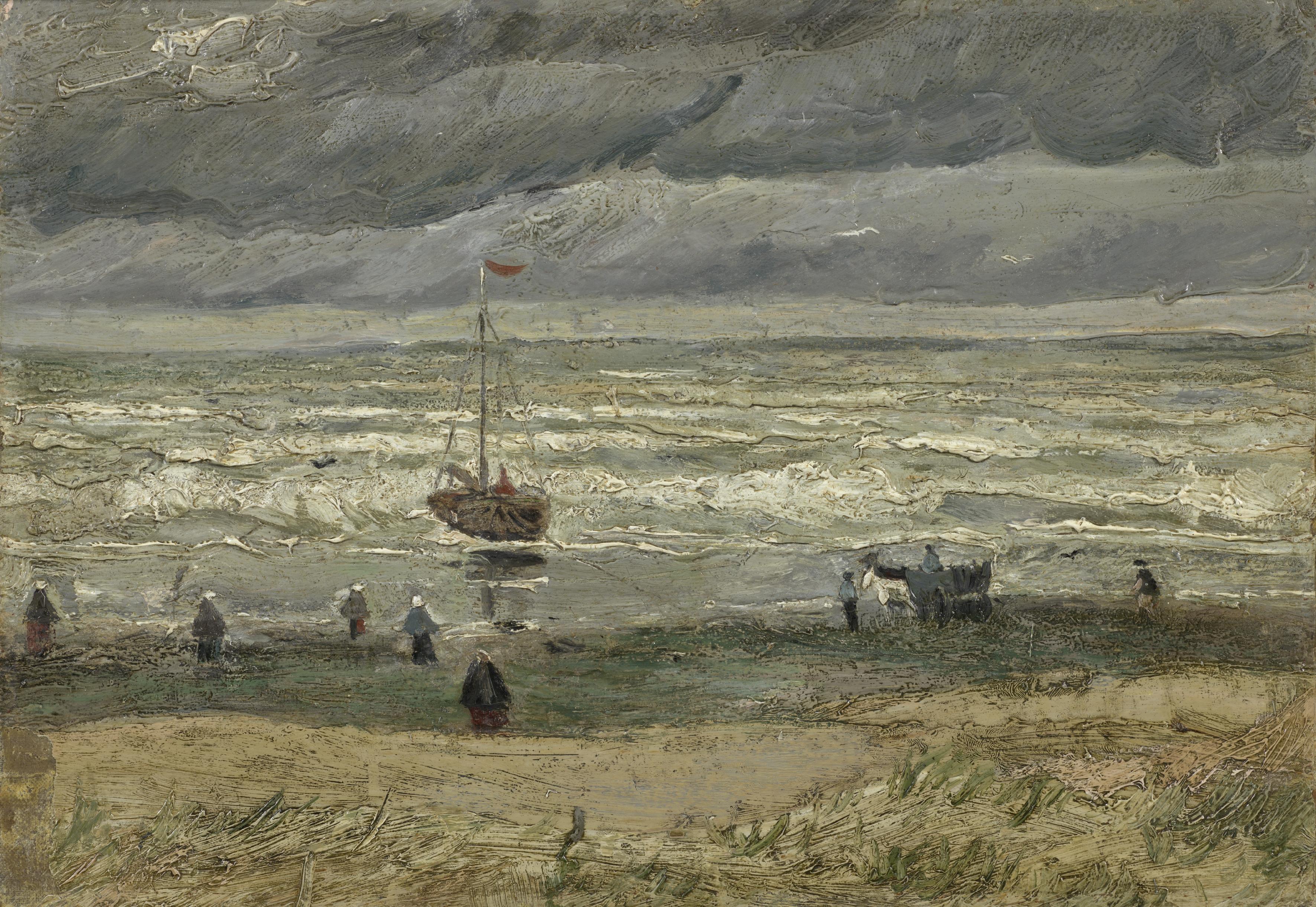 Van Gogh Ван Гог Scheveningen Схевенинген море картина seascape пейзажи природы Альберт Сафиуллин