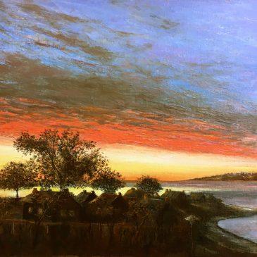 рассвет морской пейзаж Бретань восход картина малом художник Альберт Сафиуллин