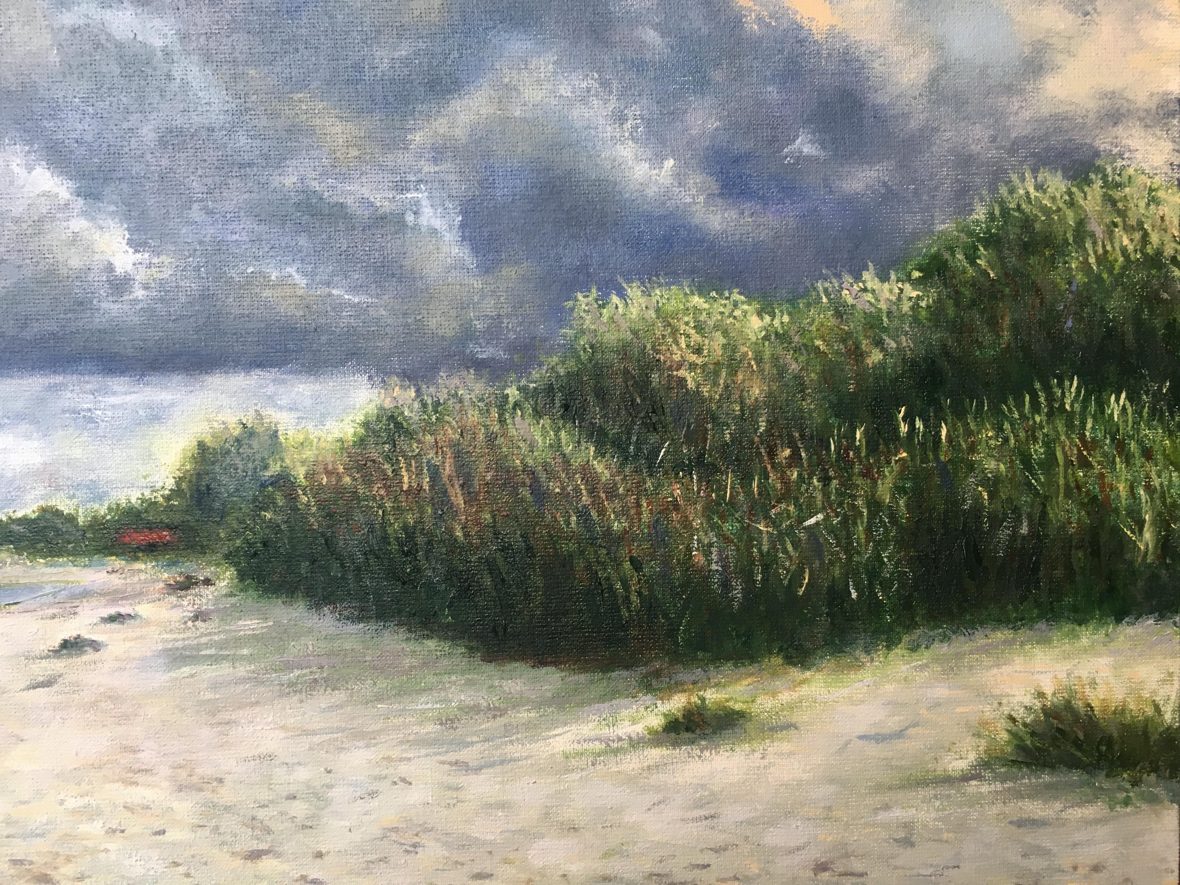 море Латвия Прибалтика Рагациемс картина маслом облака пейзажи природы художник Альберт Сафиуллин