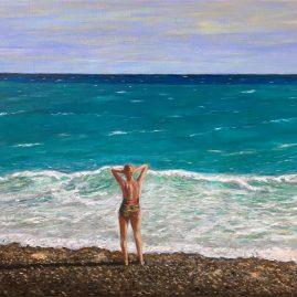 Морской пейзаж картина маслом Лазурный берег Ницца художник Альберт Сафиуллин