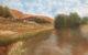 село ясашно барышево татарстан деревенский пейзаж пруд художник Альберт Сафиуллин