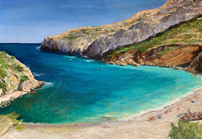 Пляж La Cala Granadella. После полудня.