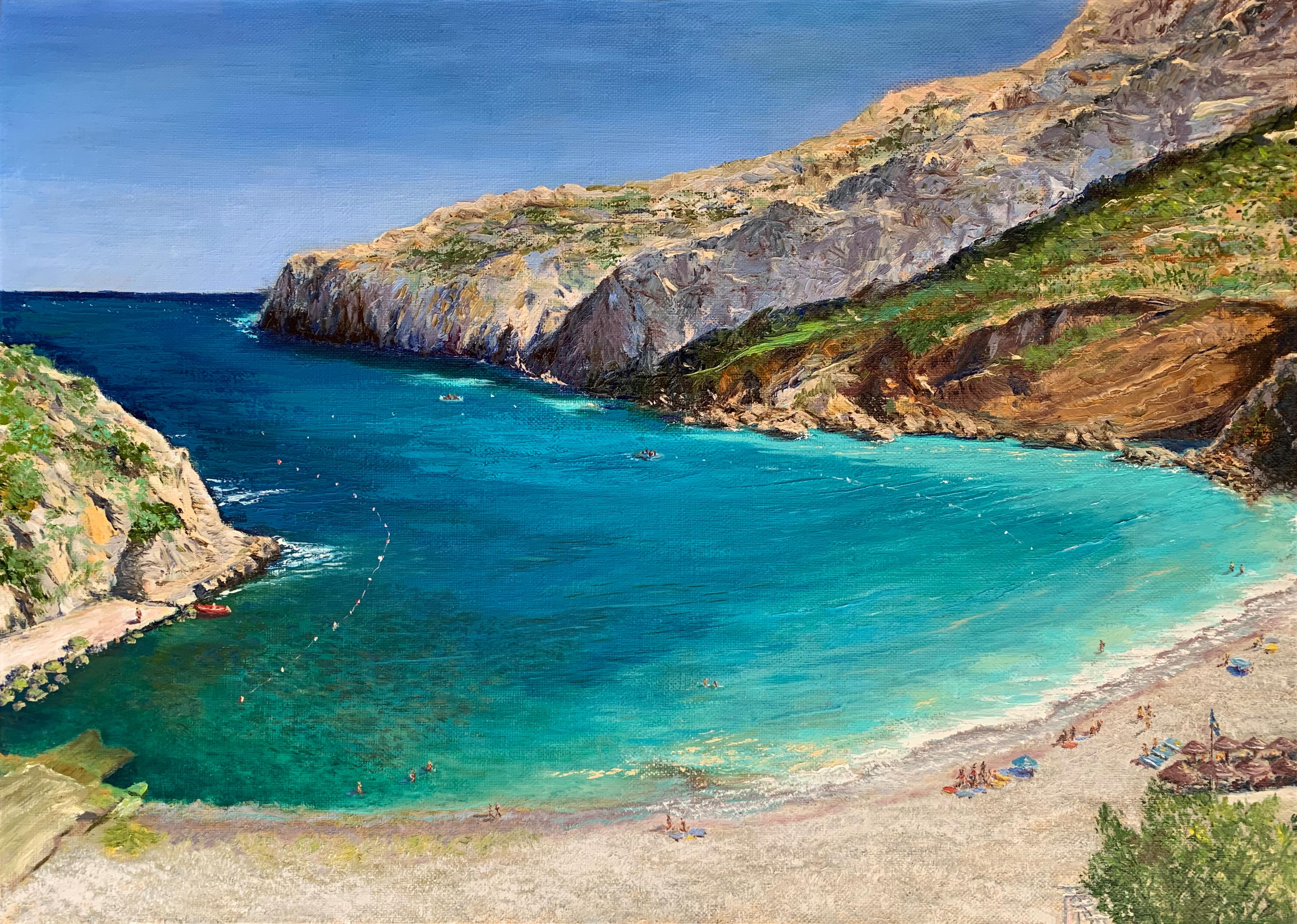 морской пейзаж картина масло холст пляж гранаделла Коста Бланка испания художник Альберт Сафиуллин