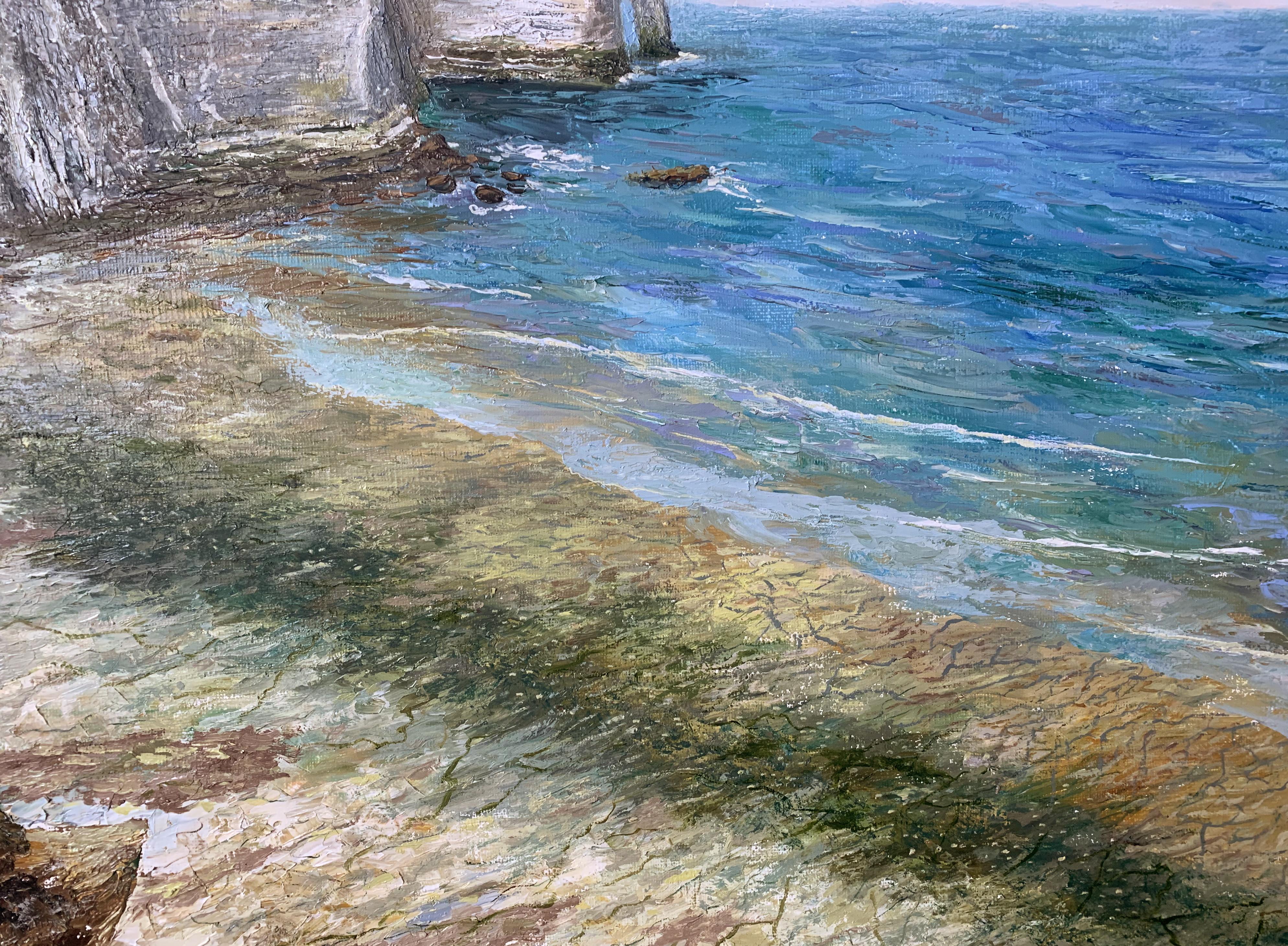 Этрета Étretat Нормандия морской пейзаж отлив картина маслом художник Альберт Сафиуллин
