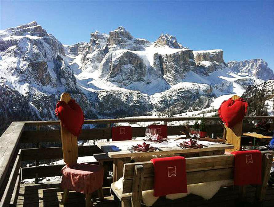 Горы пейзаж Colfosco Доломиты Альпы лыжи Альберт Сафиуллин