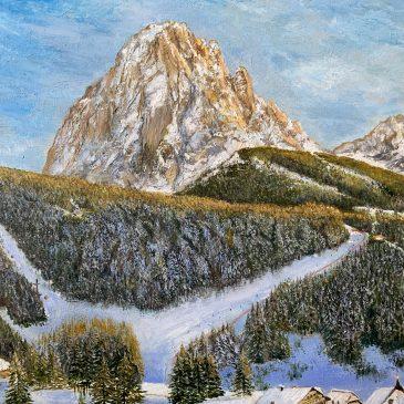 Горный пейзаж в Доломитовых Альпах