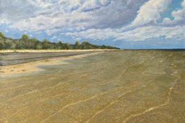 Берег Рижского залива в поселке Рагациемс