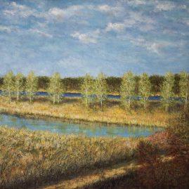 Речной пейзаж. Май в Юрмале.