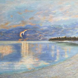 океан море атолл Мальдивы закат пейзажи природы Альберт Сафиуллин