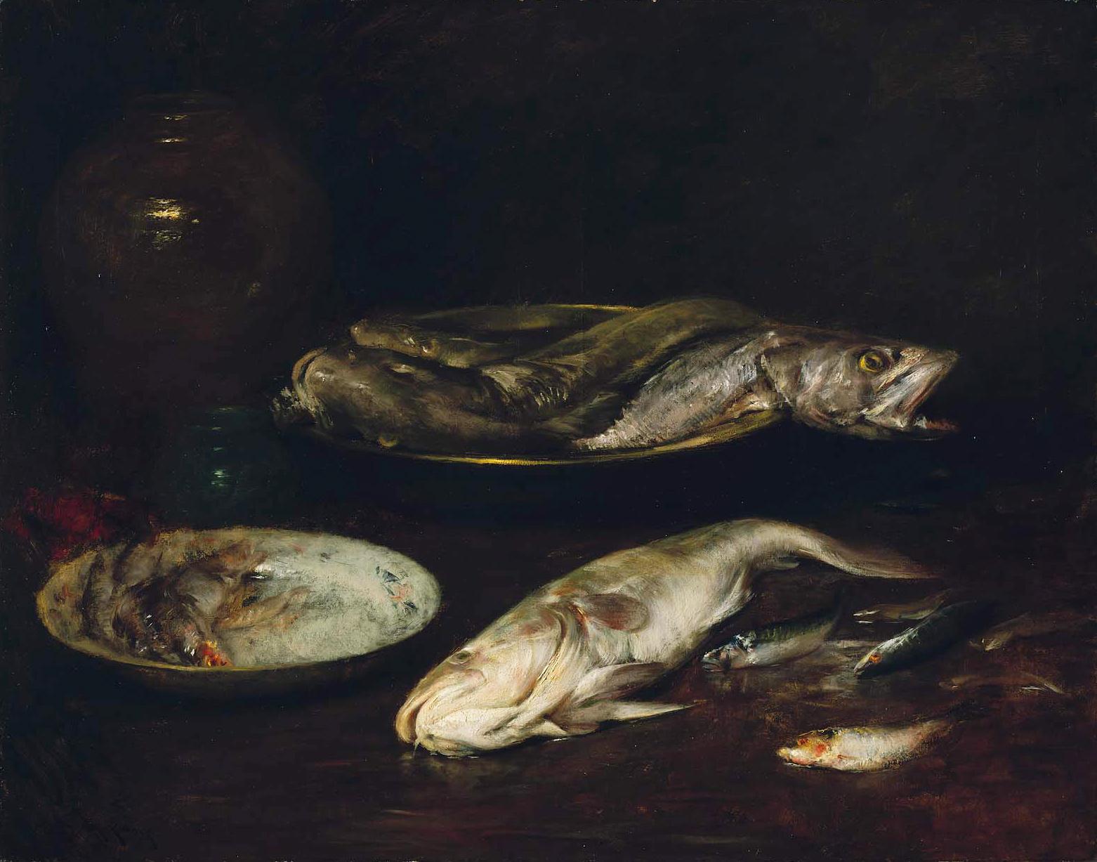 Уильям Чейз William Chase художник рыба натюрморт Альберт Сафиуллин американский импрессионизм
