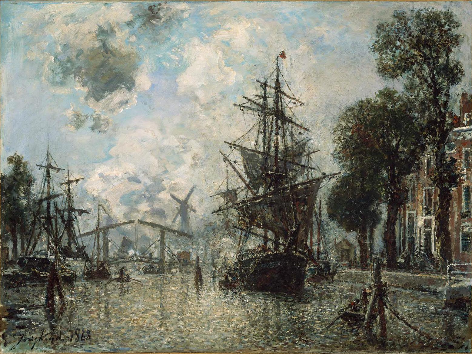 Ян Йохан Йонгкинд Johan Barthold Jongkind художник картины пейзажи природы Альберт Сафиуллин