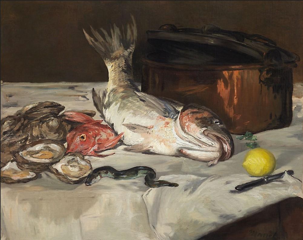 Édouard Manet Эдуард Мане рыба натюрморт картина художник Альберт Сафиуллин