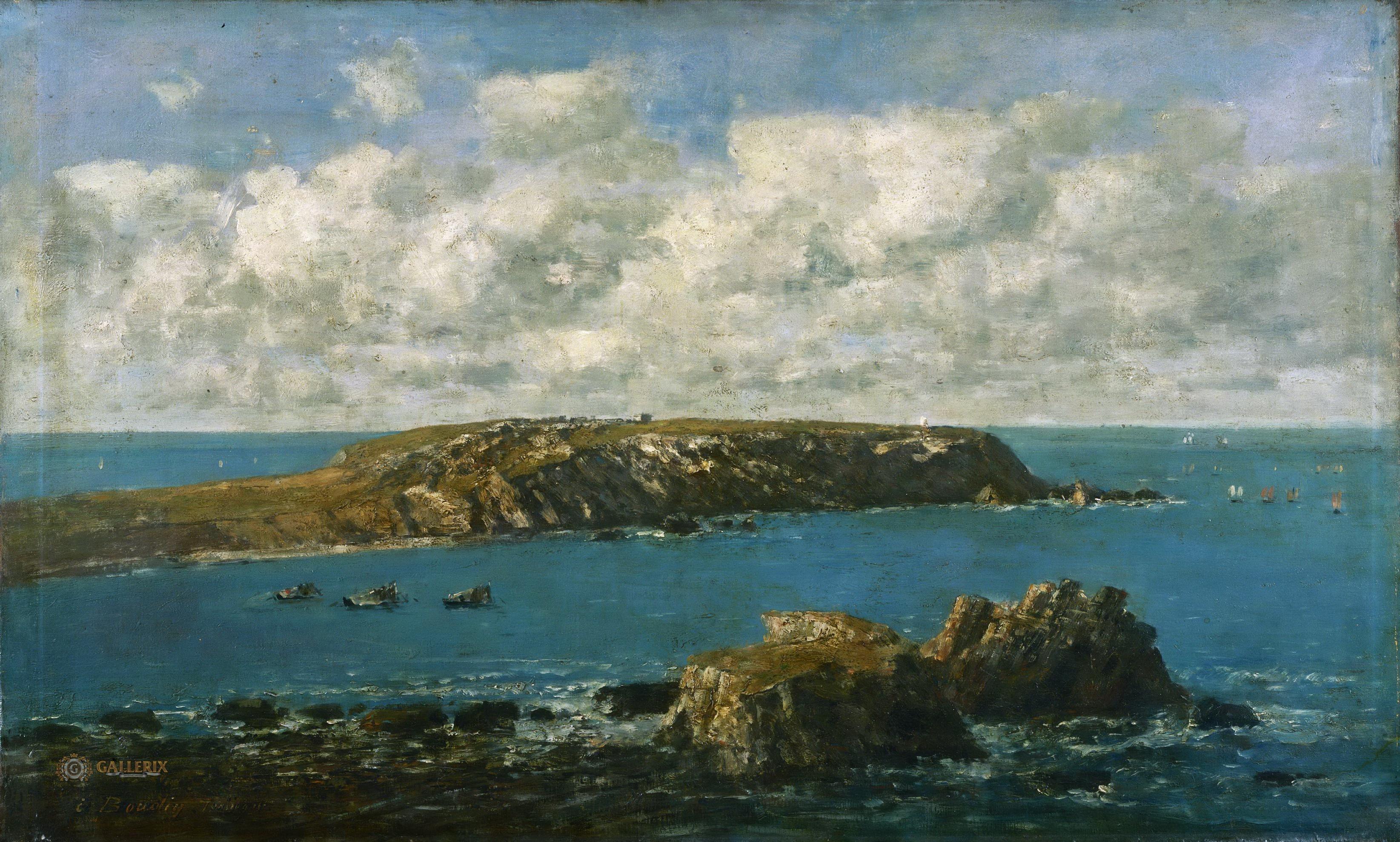 boudin картина camaret-sur-mer камаре-сюр-мер столица лангустов Бретань пейзажи природы Альберт Сафиуллин