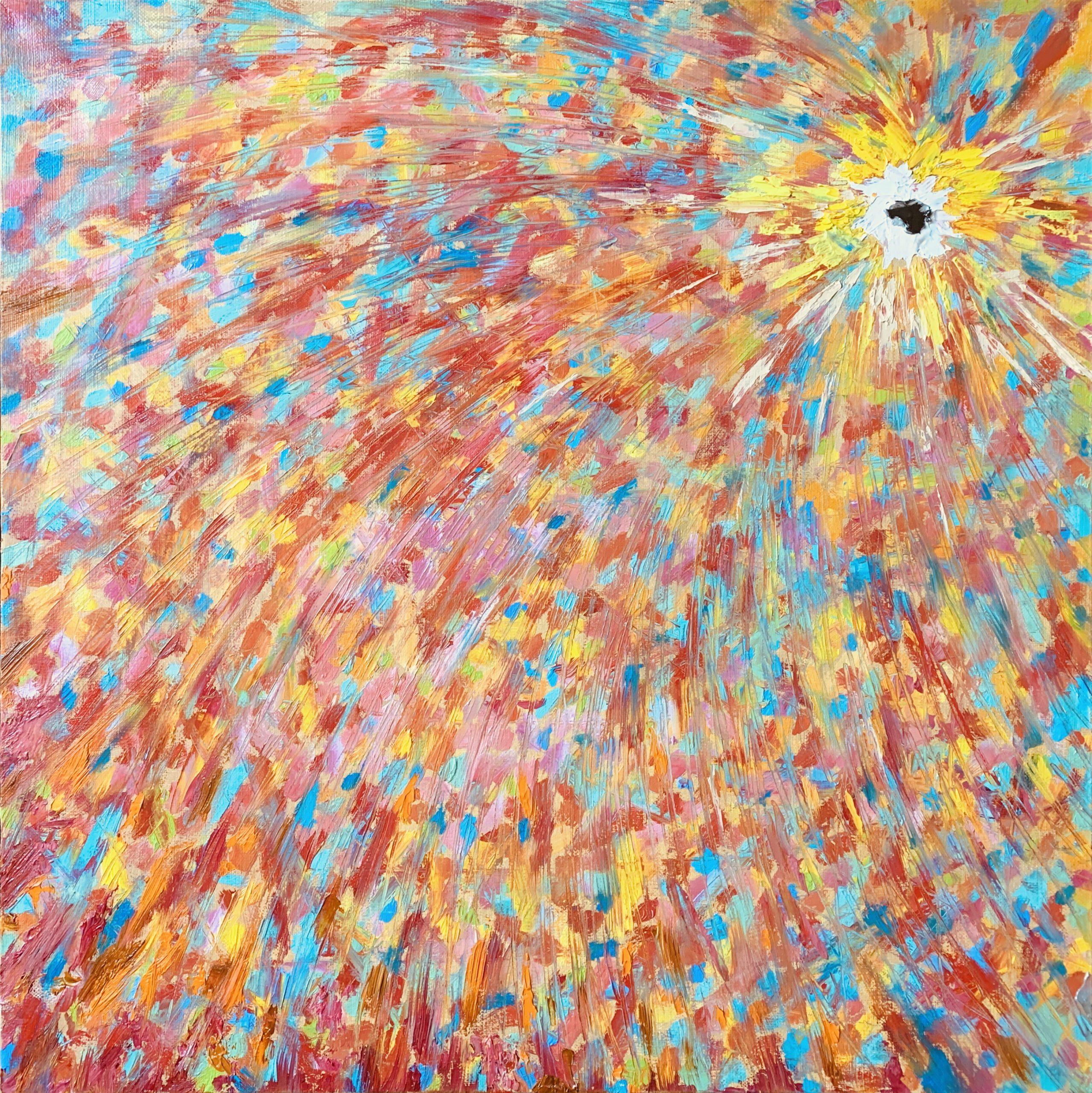 гравитация космос черная дыра картина масло холст художник Альберт Сафиуллин