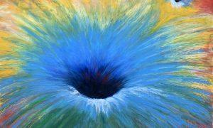 гравитация космос черная дыра масляная пастель рисунок художник Альберт Сафиуллин