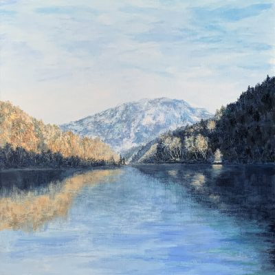 Озеро Thumsee Альпы Горы Бавария пейзажи природы художник Альберт Сафиуллин