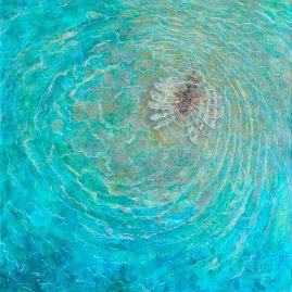 на рифе рыба лев крылатка картина пейзажи природы художник Альберт Сафиуллин