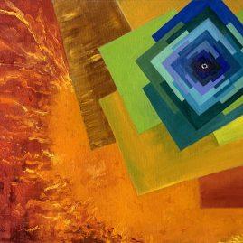 цивилизация картина маслом пейзажи природы художник Альберт Сафиуллин